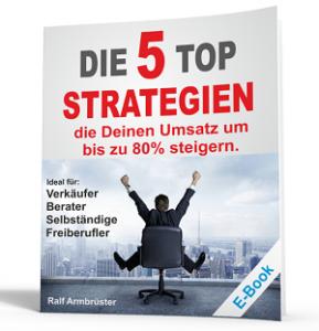 5 TOP Verkaufsstrategien Gratis EBook