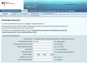 DPMA Markenrecherche am Beispiel souveraen-verkaufen